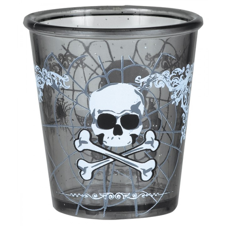 Lot de 6 Verres à Shot jetables Halloween modèles assortis 59 ml