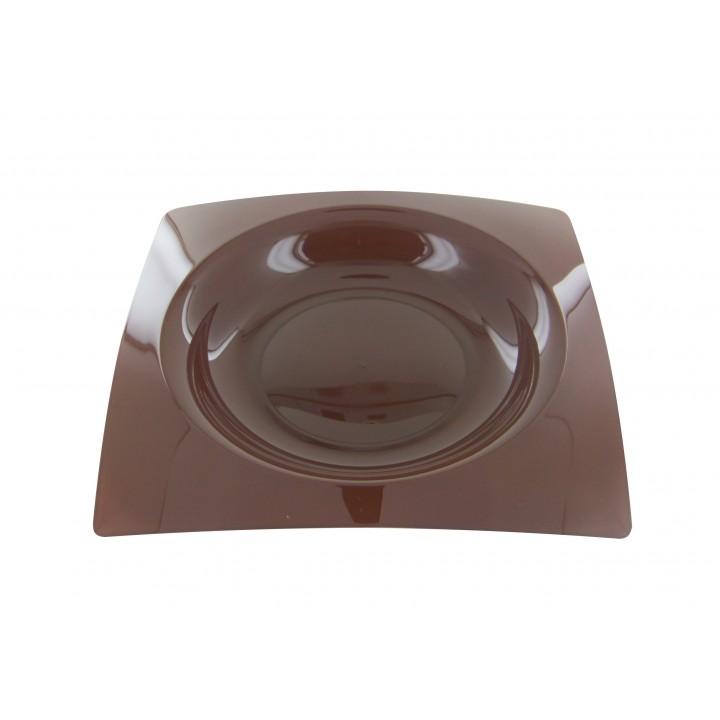 Lot de 8 assiettes jetables design en plastique chocolat 20 cm