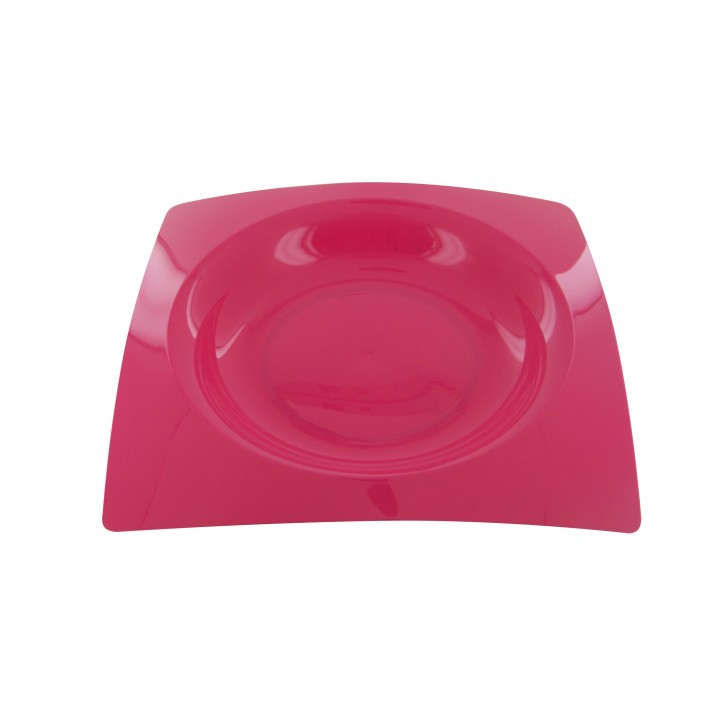 Lot de 8 assiettes jetables design en plastique Fuschia  20 cm