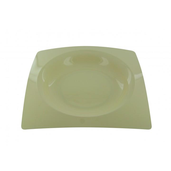 Lot de 8 assiettes jetables design en plastique Ivoire  23,5 cm