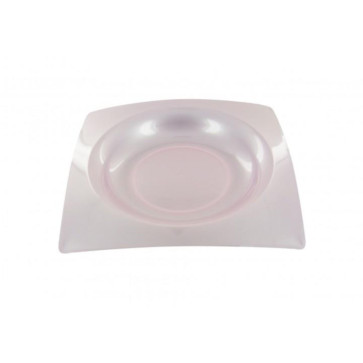 Lot de 8 assiettes jetables  design en plastique roses 20 cm