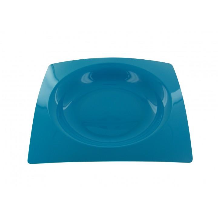 Lot de 8 assiettes jetablesdesign en plastique  turquoise 20 cm