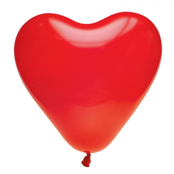 Lot de 8 ballons de baudruche Cœur en latex Rouge 35 cm