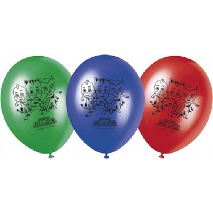 Lot de 8 ballons imprimés Pyjamasques