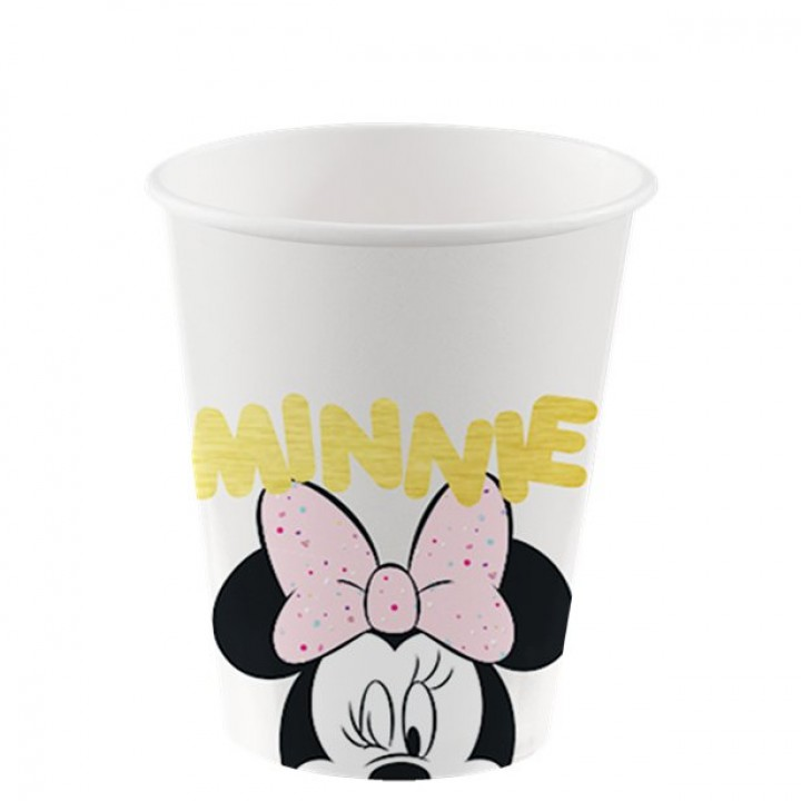 Lot de 8 gobelelets jetables Baby Minnie en plastique 20 cl