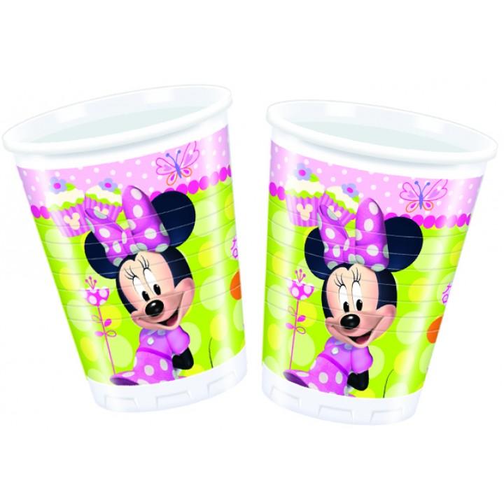 Lot de 8 gobelets jetables en plastique Minnie Bow-tique