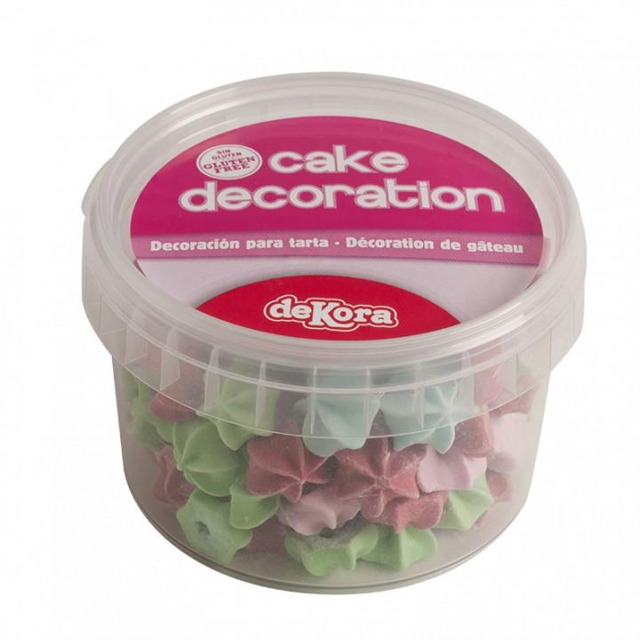 Lot de 80 gr de fleurs en sucre pour déco gâteau