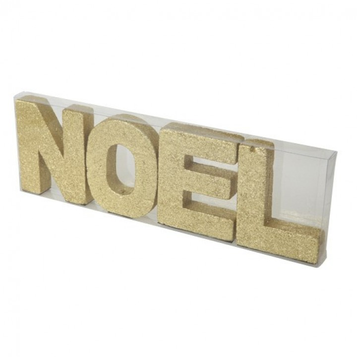 Lot de lettres NOEL or 10 cm x 32cm