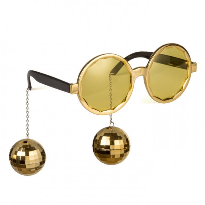 Lunettes Boules Disco or