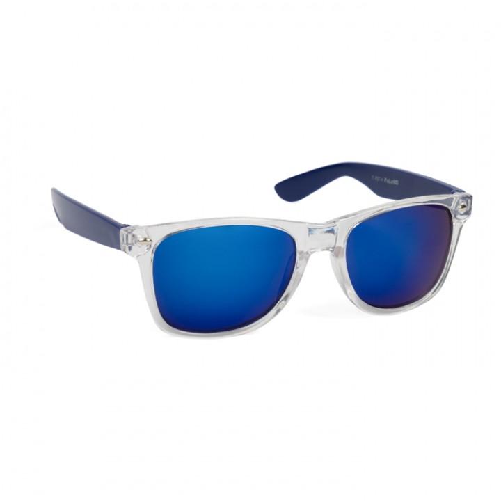 Lunettes transparentes bleues