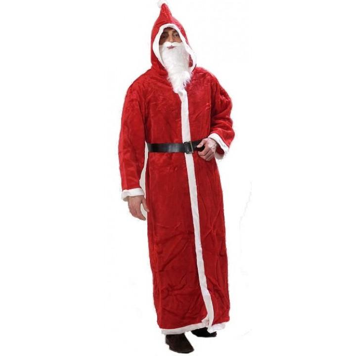 Manteau de père noël rouge peluche