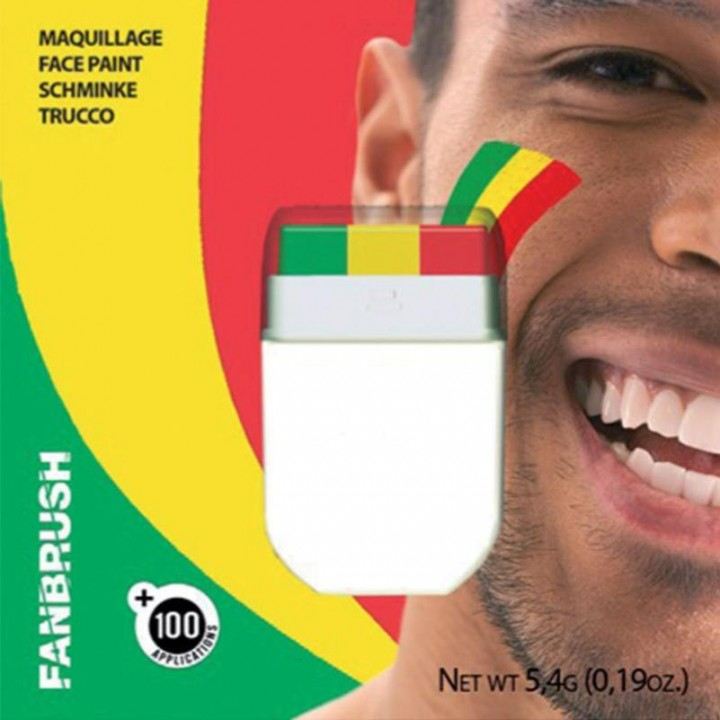 Maquillage 3 bandes vert/ jaune/rouge