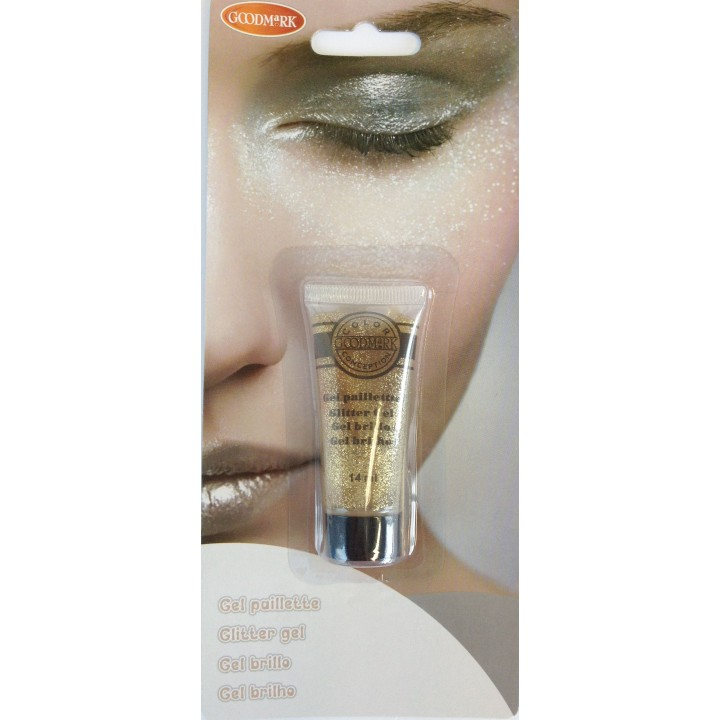 Maquillage gel pailleté or