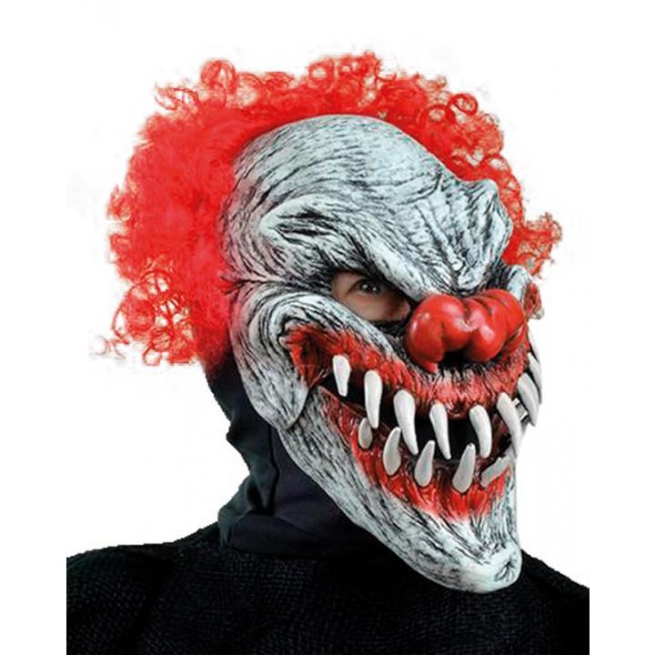 Masque Clown Dernier Sourire Bouche Articulée Halloween