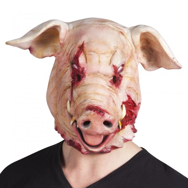 Masque Cochon décapité en latex Halloween