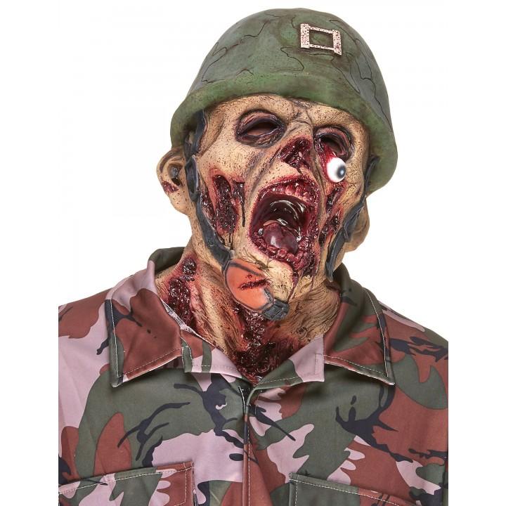 Masque Crâne de Soldat en latex Halloween