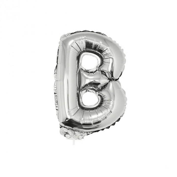 Mini Ballon Lettre B aluminium argent
