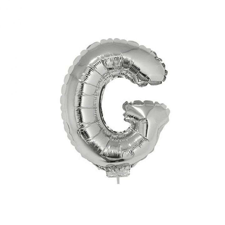 Mini Ballon Lettre G aluminium argent