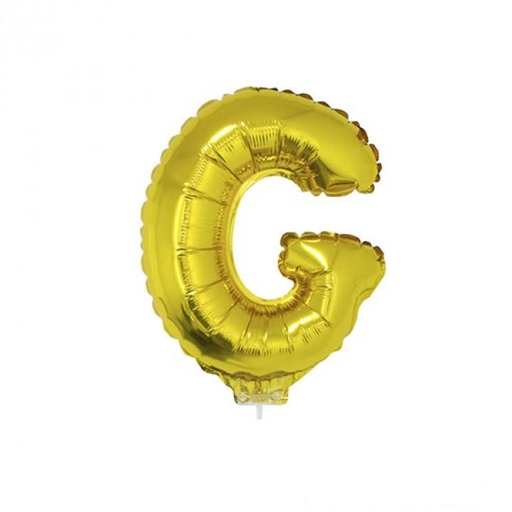 Mini Ballon Lettre G aluminium or