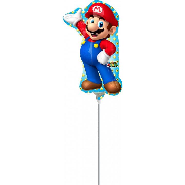 Mini ballon Mario Bross sur tige