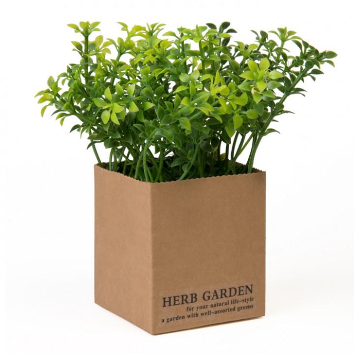 Mini Plante verte artificielle buis 13 x 13 x 15 cm