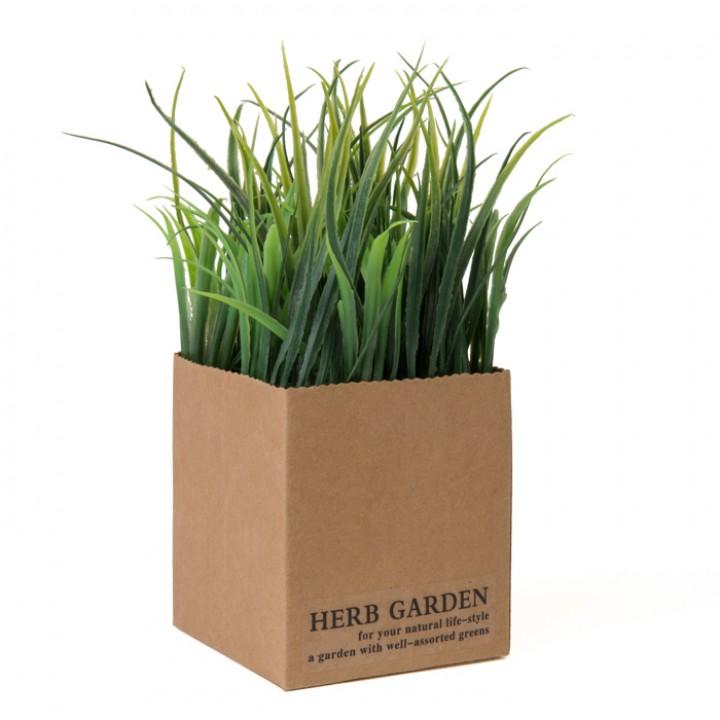mini plante verte artificielle herbe 10 x 10 x 15 cm. Black Bedroom Furniture Sets. Home Design Ideas