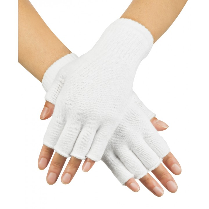Mitaines blanches en tricot