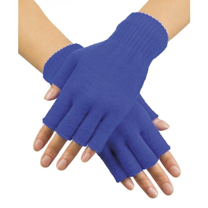 Mitaines bleues en tricot