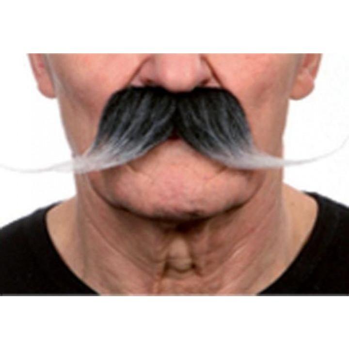 Moustache de dandy noire/blanche