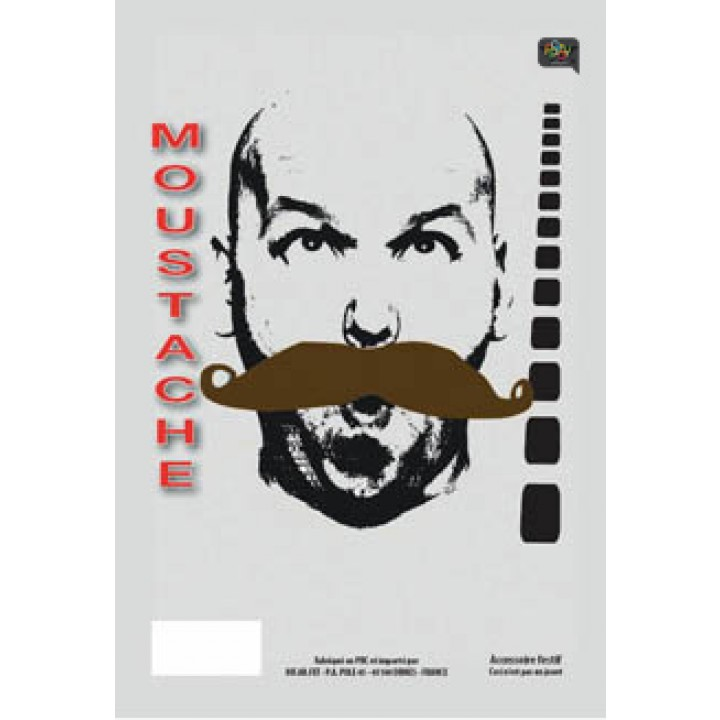 Moustache de gendarme Chatain