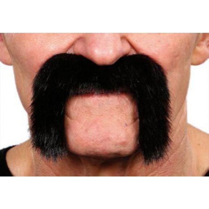 Moustache motard noire