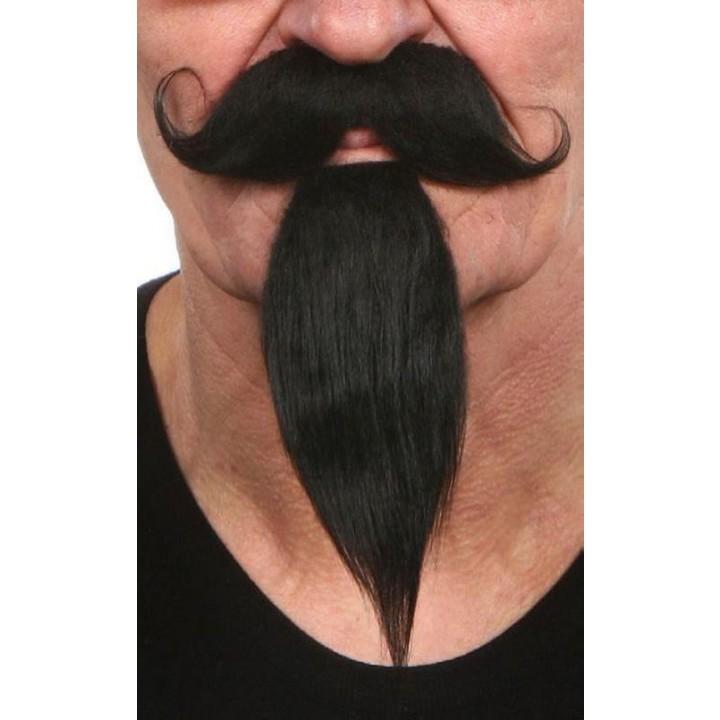 Moustache mousquetaire noire