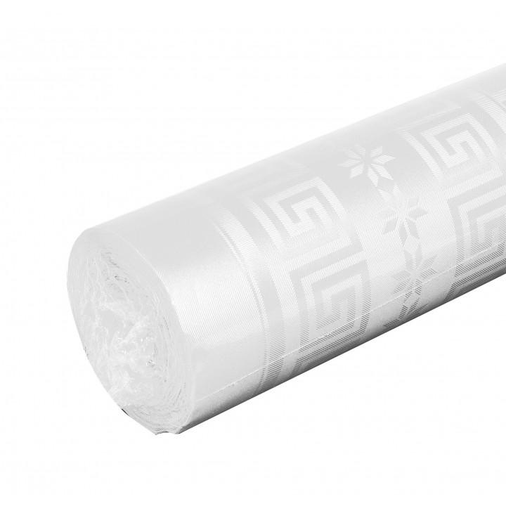 Nappe blanche papier damassé 10 m