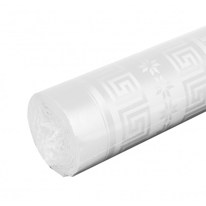 Nappe blanche papier damassé 100 m