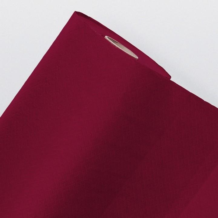 Nappe en papier gaufré bordeaux  25M
