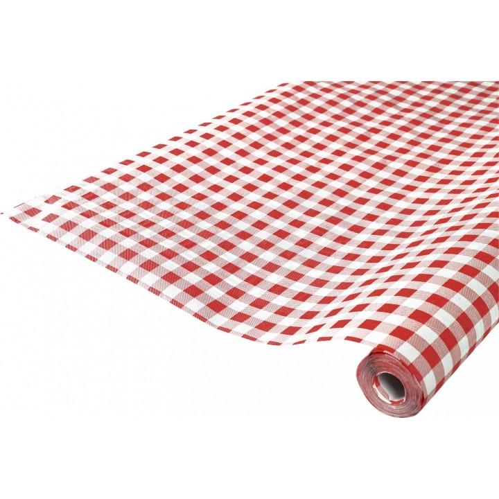 Nappe en papier vichy rouge 10 m