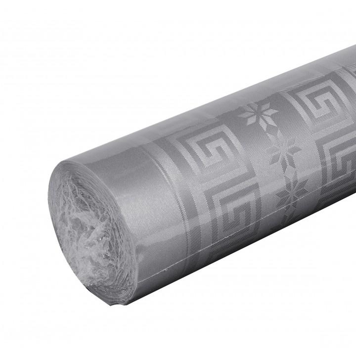 Nappe gris  papier damassé 25 m