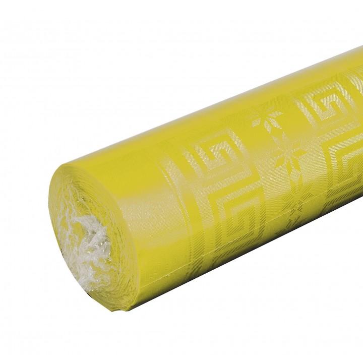 Nappe jaune  papier damassé 25 m