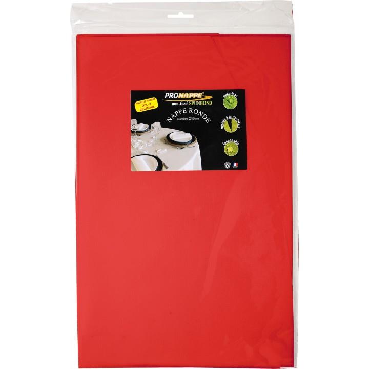 nappe ronde rouge papier 240 cm. Black Bedroom Furniture Sets. Home Design Ideas