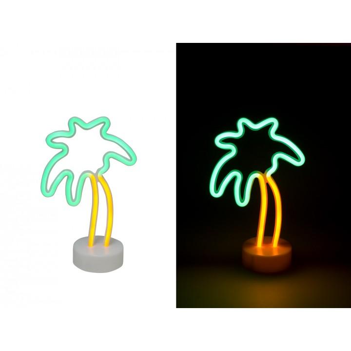 Palmier néon vert jaune 18 x 30 cm