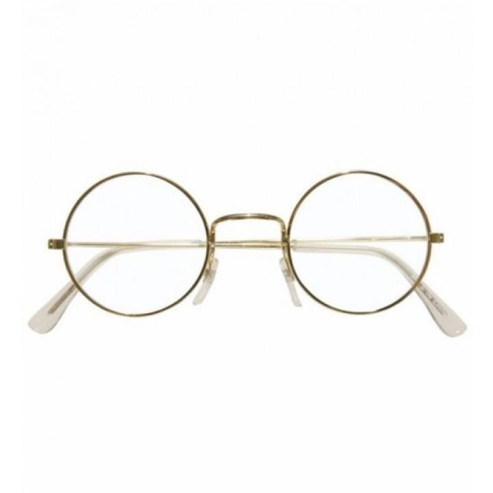 Paire de lunettes métal rondes