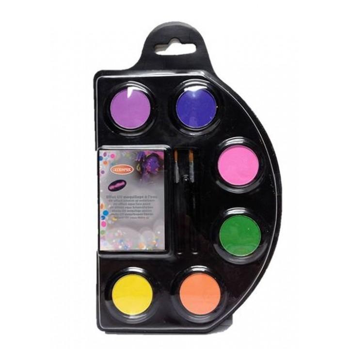 palette maquillage fluo
