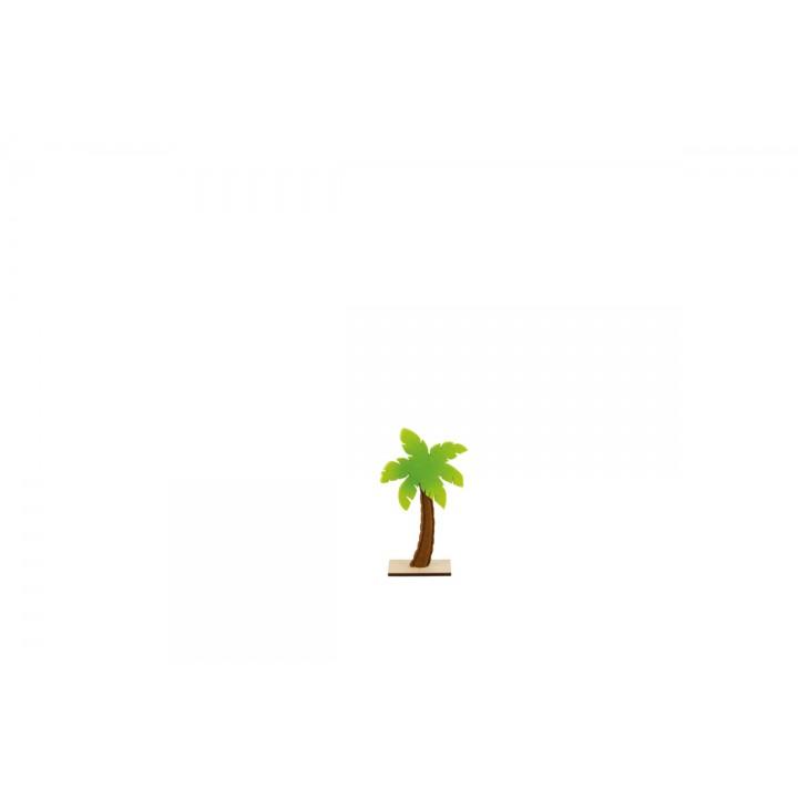 Palmier en feutrine sur pied en bois 15 x 25 cm
