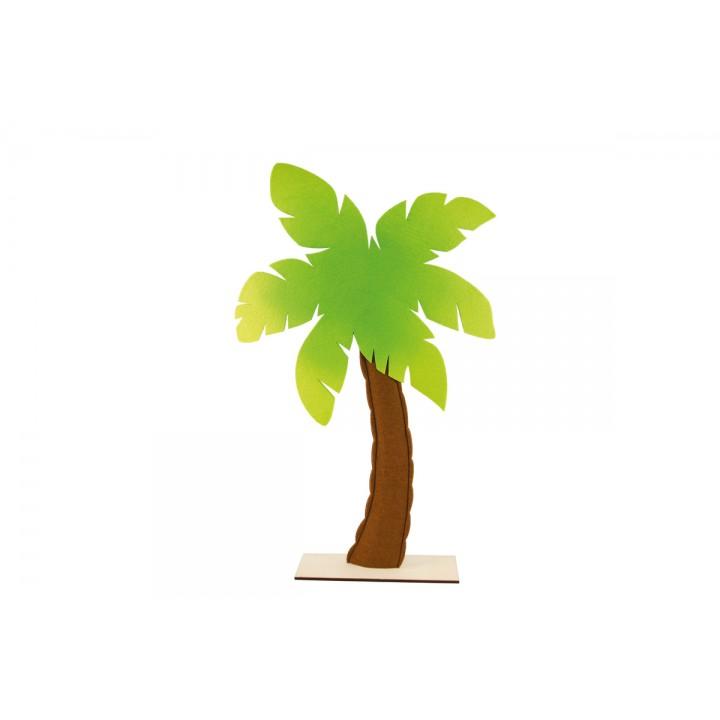 Palmier en feutrine sur pied en bois 41 x 71 cm