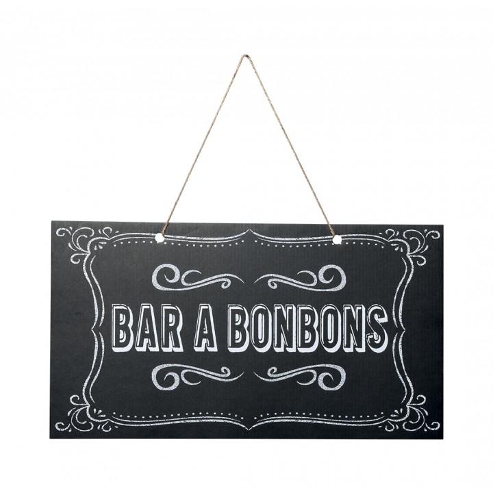 Panneau Bar à Bonbons 47 x 26 cm