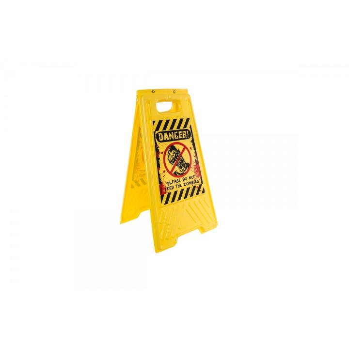 Panneau signalisation danger Halloween  54 x 30 cm