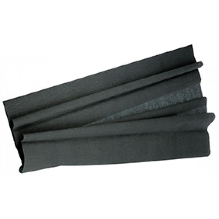 Papier crépon noir 50 cm x 2 m