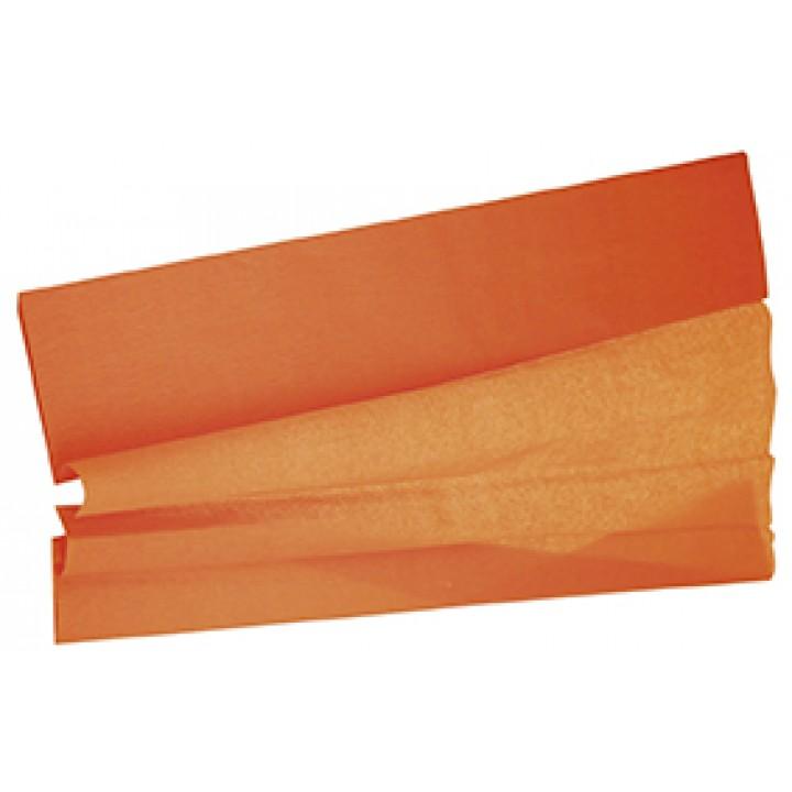 Papier crépon orange 50 cm x 2 m