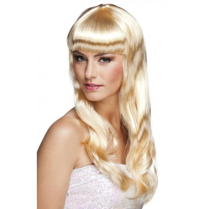 Perruque cheveux longs Chique pour femme blonde