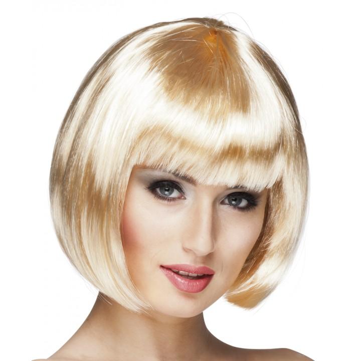 Perruque courte cabaret pour femme blonde